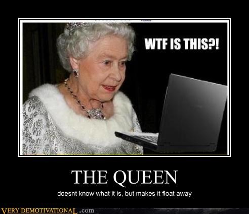 THE QUEEN doesnt know what it is, but makes it float away