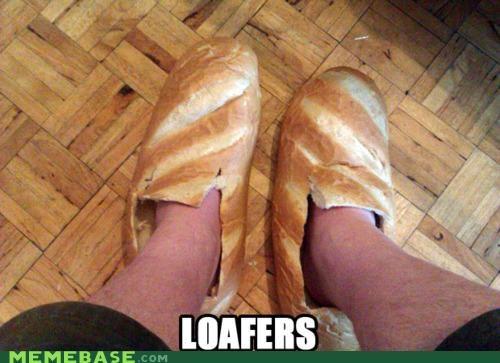 bread loaf loafers Memes shoe slipper - 4411920384