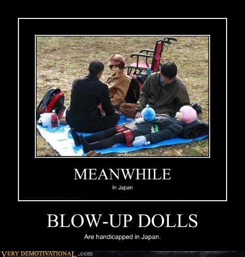 BLOW-UP DOLLS Are handicapped in Japan.