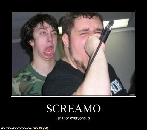 camouflage,derp,face,screamo,singing