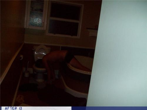 bath tub bathroom passed out puke toilet - 4412320256