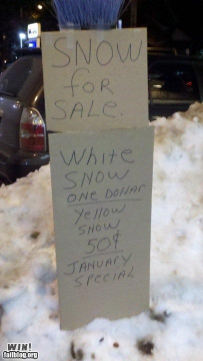 for sale,gross,signs,snow,winter