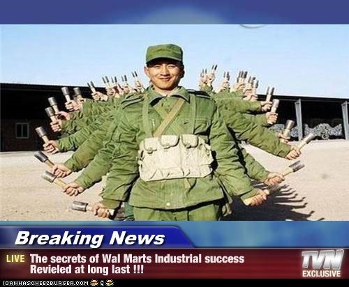 Breaking News - The secrets of Wal Marts Industrial success Revieled at long last !!!
