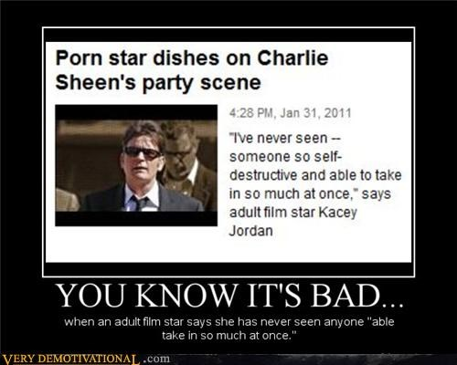 bad idea Charlie Sheen famous pron0