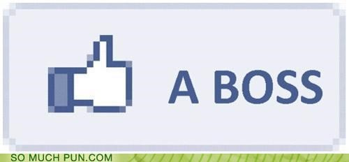 boss button facebook like Like a Boss meme saying - 4412867840