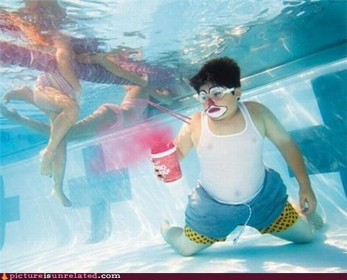 fat kid,kid,pool,slushies,underwater,wtf