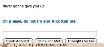 Cleverbot it knows oh please rick roll - 4412957440