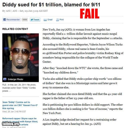 911,failboat,lawsuit,P Diddy,Probably bad News