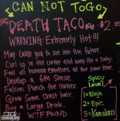 awesome at work food menu spicy taco - 4413277952