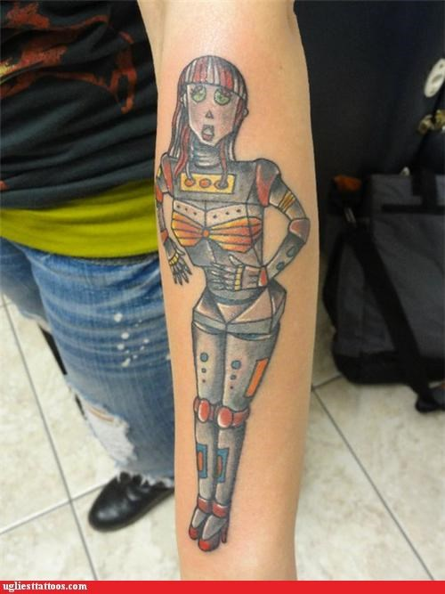 tattoos,robots,funny,g rated,Ugliest Tattoos