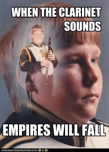 WHEN THE CLARINET SOUNDS EMPIRES WILL FALL