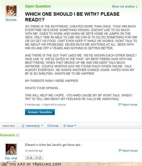 boys edward Jacob relationships twilight Yahoo Answer Fails - 4414082048