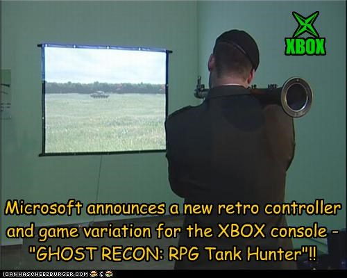 "Microsoft announces a new retro controller and game variation for the XBOX console - ""GHOST RECON: RPG Tank Hunter""!! XBOX l"