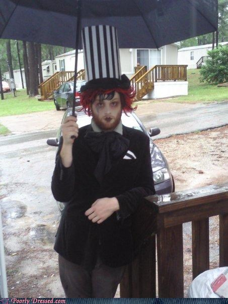 make up,my chemical romance,trailer park,umbrella,wig