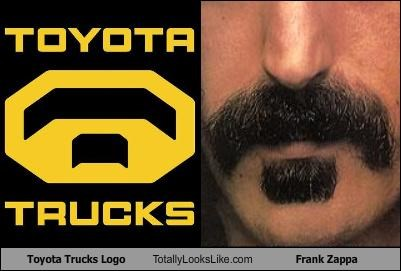 cars frank zappa logo musician mustache toyota - 4414498560
