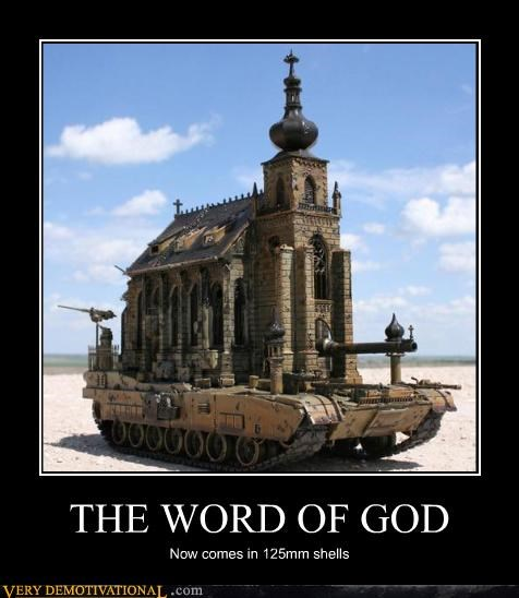 church,tank,violence,word of god