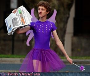 costume,fairy,newspaper,weird
