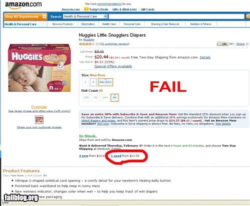 amazon diapers failboat g rated gross online shopping Used Item - 4414895872