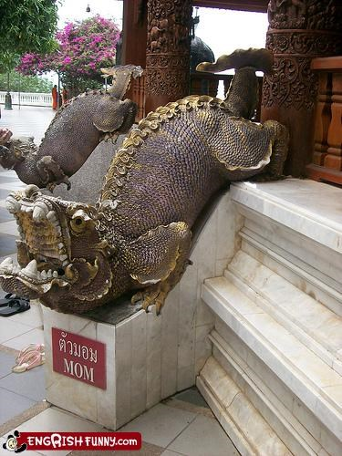 crassic,dragon,mom,sculpture,sign,statue,thailand