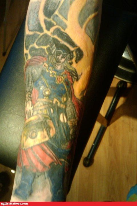 Thor,tattoos,funny
