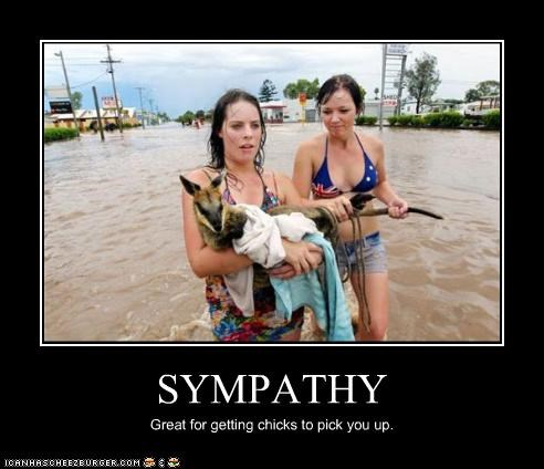 SYMPATHY Great for getting chicks to pick you up.