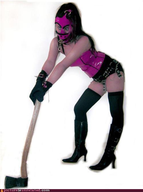 axe costume Fetish golf wtf - 4415584512