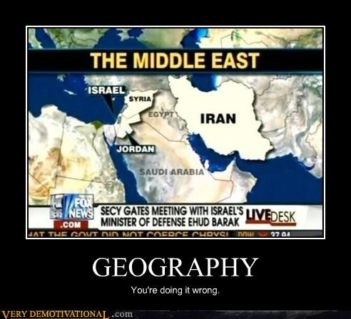 GEOGRAPHY You're doing it wrong.