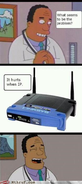ip address,it,pun,router,simpsons,wireless