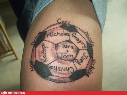 wtf tattoos soccer funny - 4415745792