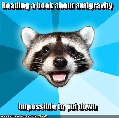 antigravity book Lame Pun Coon pun - 4415791616