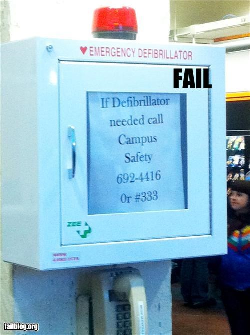defibrillator failboat g rated medical safety signs - 4415888128