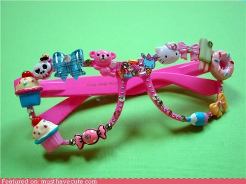 Charms frames glasses pink toys