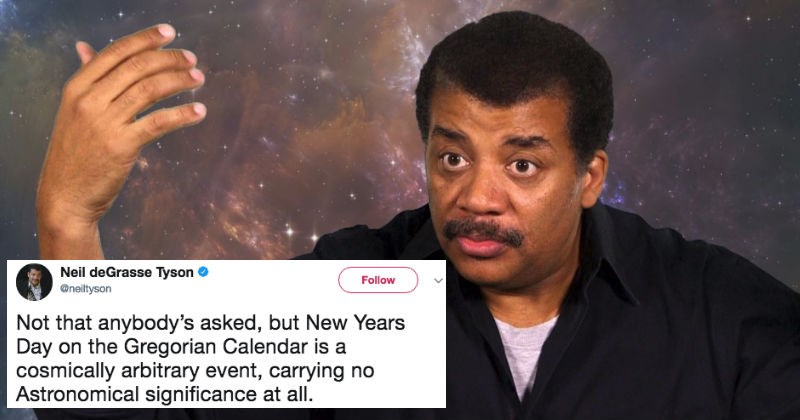 Neil DeGrasse Tyson gets roasted on Twitter for his sassy comment about New Year's Day.