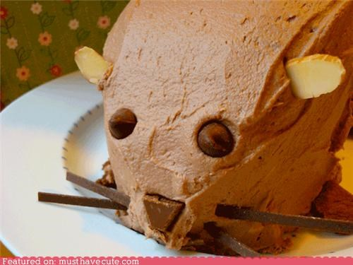cake,chocolate,epicute,frosting,groundhog,holiday