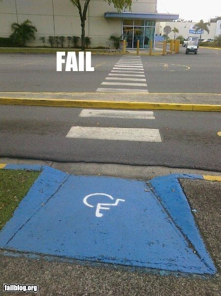 access,classic,crossing,failboat,g rated,poor planning,street,wheelchair