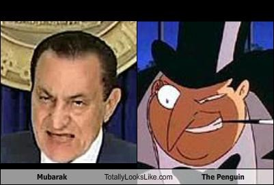 batman,comics,egypt,Hosni Mubarak,The Penguin,villains