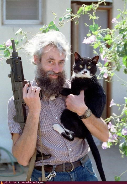 awesome,Cats,guns,uzi,wtf