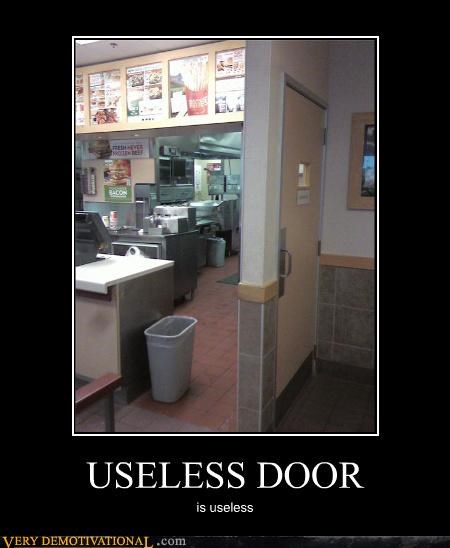 useless door wtf restaurant