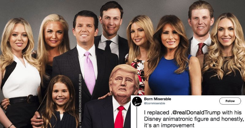 People are trolling Donald Trump by photoshopping robo-Trump into pictures of the White House, and the resulting memes are hilarious.