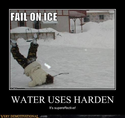 WATER USES HARDEN It's supereffective!