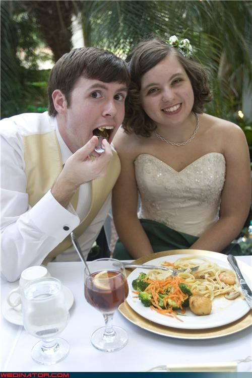 bride crazy groom eww funny bride and groom picture funny wedding photos groom miscellaneous-oops surprise were-in-love wedding reception - 4417383424