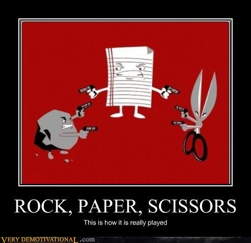guns game rock paper scissors