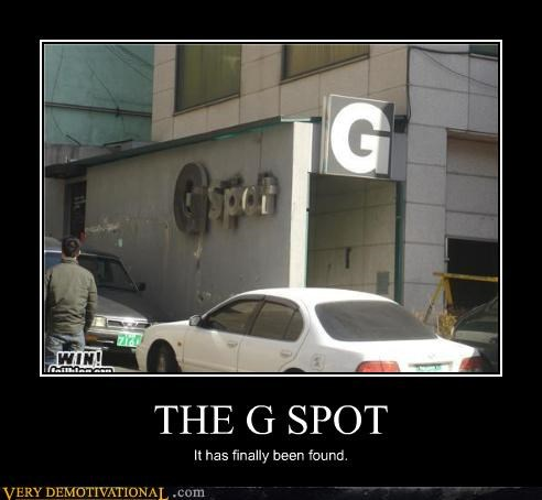 THE G SPOT It has finally been found.