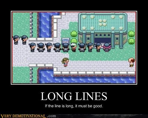 Pokémon long lines video games