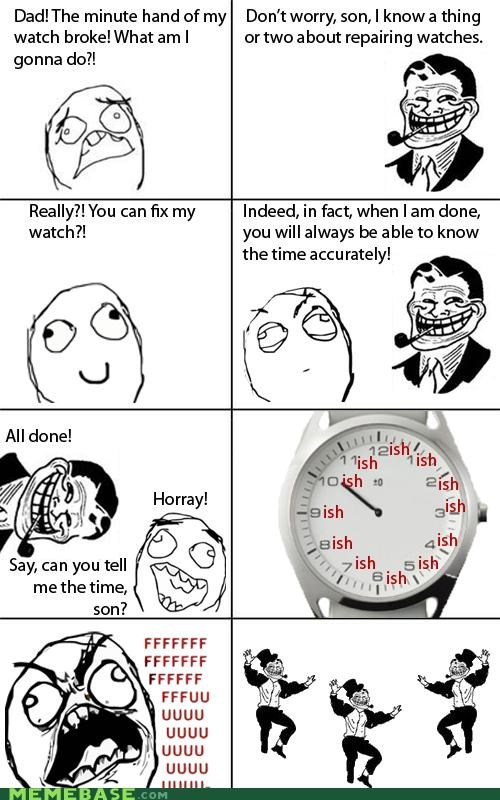 minute hand there I fixed it troll dad watch - 4417784064