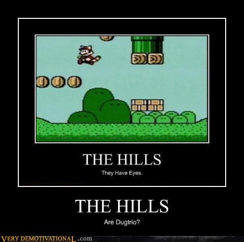 dugtrio,hills,video games,mario bros