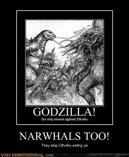 narwhals godzilla cthulhu - 4418245888