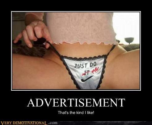 advertising panties nike - 4418387200