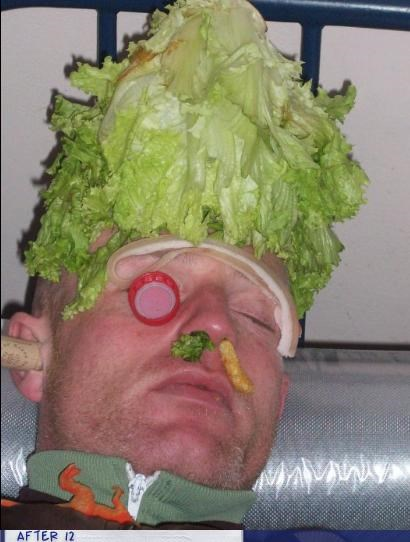 cork food lettuce passed out - 4418424064