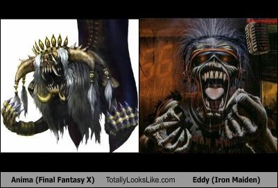 Anima (Final Fantasy X) Totally Looks Like Eddy (Iron Maiden)